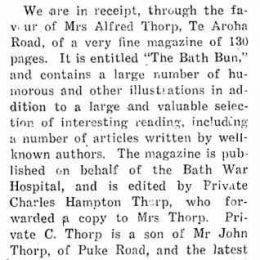 Editor of 'The Bath Bun' – Charles Hampton Thorp