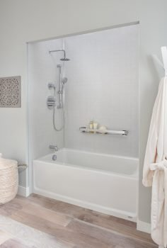 best material for a bathtub surround