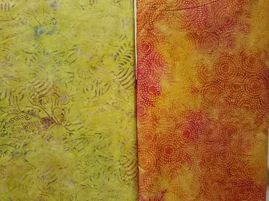 Yellow Batik fabric UK with stamp technique
