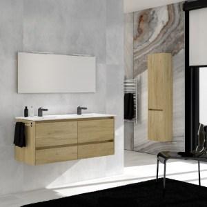Meuble plan vasque salle de bains Batinea Lena