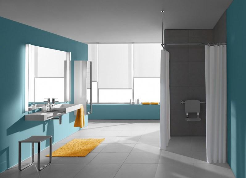 Salle de bain adaptée aux PMR de la marque Villeroy et Boch