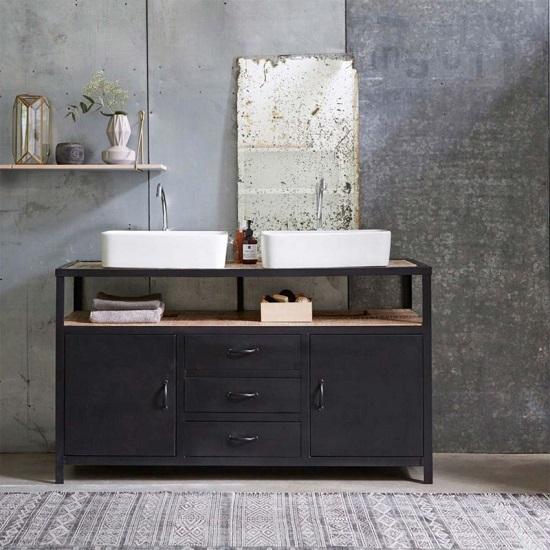 meuble de salle de bain de style atelier