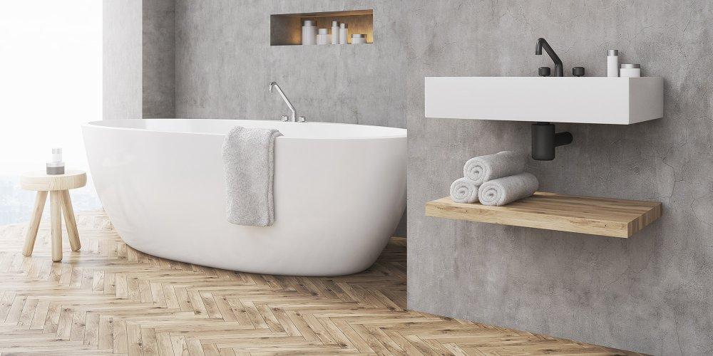 mettre au mur d une salle de bain
