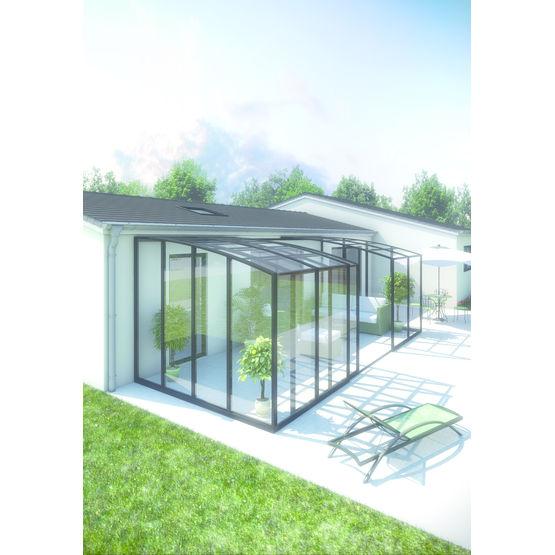 abri de terrasse en aluminium a baies coulissantes abri de terrasse