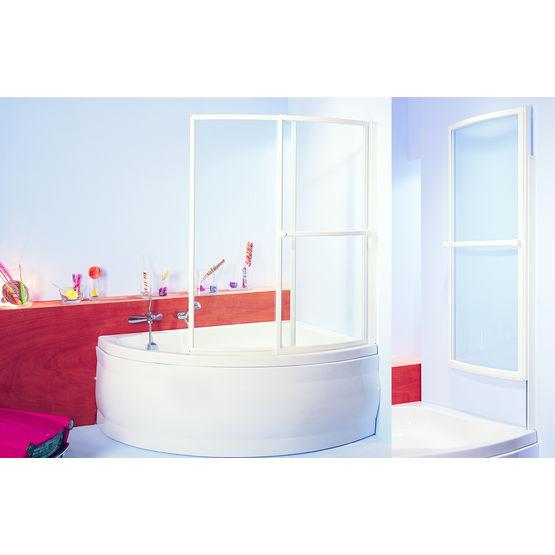baignoire a ecran relevable vitre coulissant et pivotant paso doble