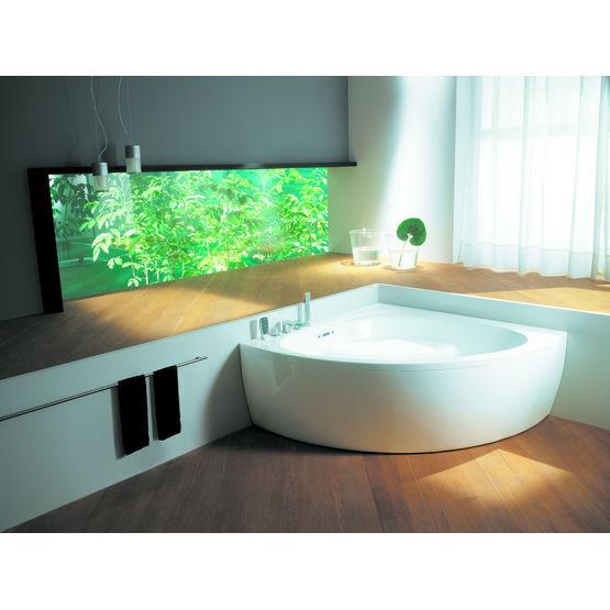 baignoire d angle avec ou sans fonctions hydromassantes coralya