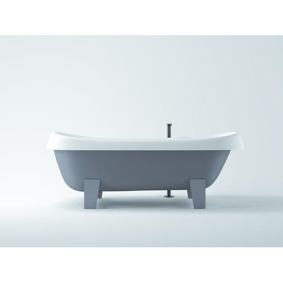baignoire sur pied pour pose en ilot ou encastree pear