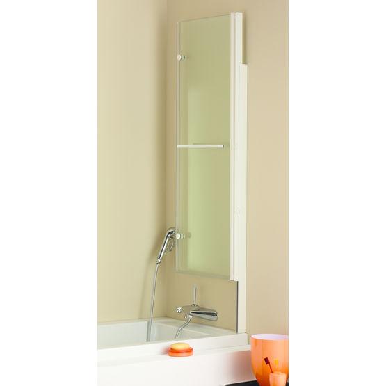 ecran de baignoire relevable en verre trempe 5 mm odessa