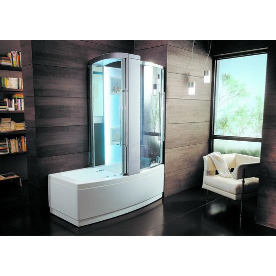 ensemble baignoire douche avec fonction hydromassage sharade