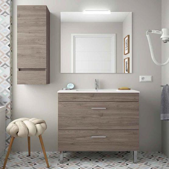 ensemble meuble salle de bain a pieds sol salgar almagro