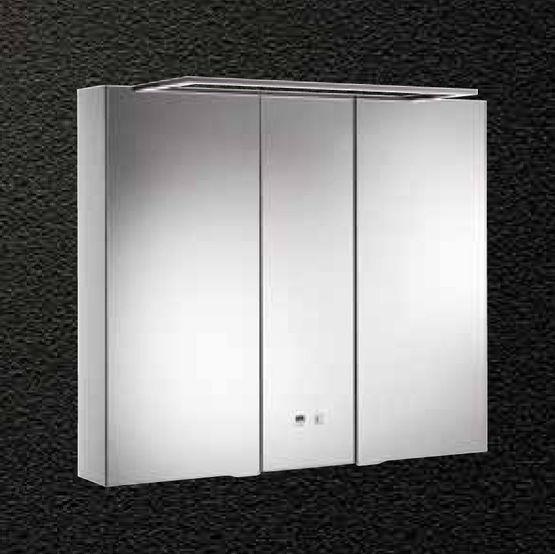 Alkor Basic Meuble Miroir En Aluminium A Eclairage Led Integree Pour Salle De Bains Batiproduits