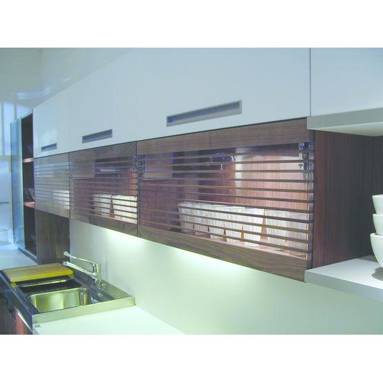 panneau alternant le bois et le verre acrylique cristal
