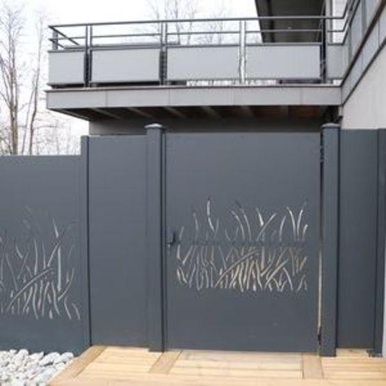 panneaux decoratifs claustras treillis portails clotures garde corps en aluminium decoupes au laser ambellya