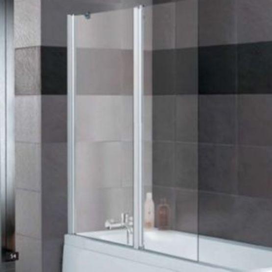 pare baignoire verre clair 5 mm 1 volet fixe 1 volet pivotant spreo epure