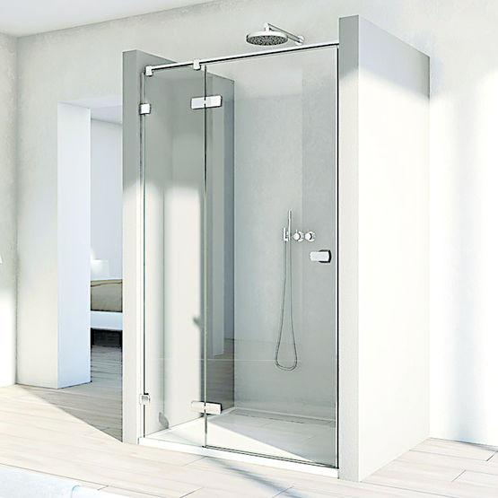 paroi de douche en verre configurable sur mesure melia