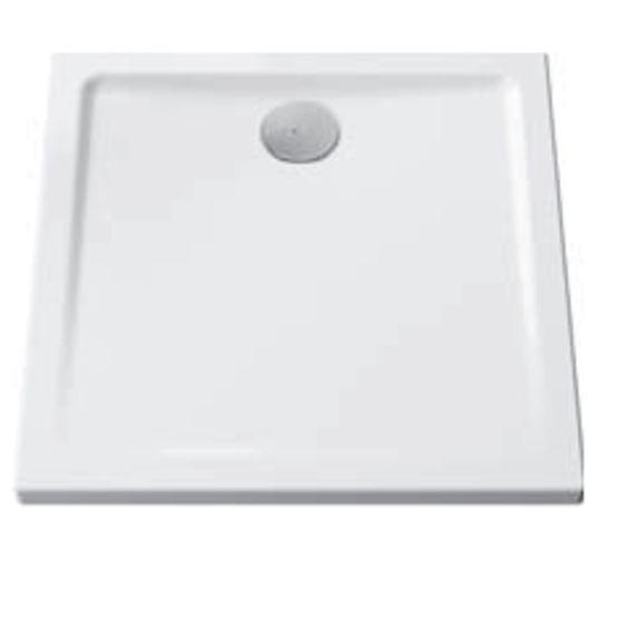receveur de douche ultra plat en ceramique carre a poser ou a encastrer cascade 5761l003m0578