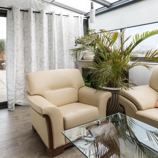 rideau de protection solaire et d isolation thermique pour baies vitrees rideau thermique