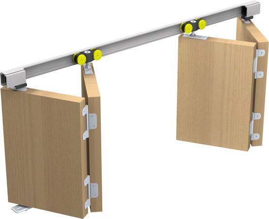 systeme coulissant pliant droit pour portes bois tango
