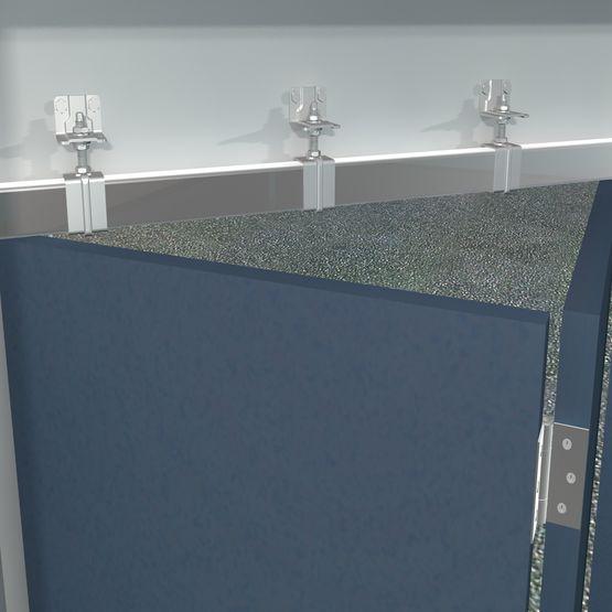 systeme coulissant pour portes pliantes a panneaux egaux sportub serie 500