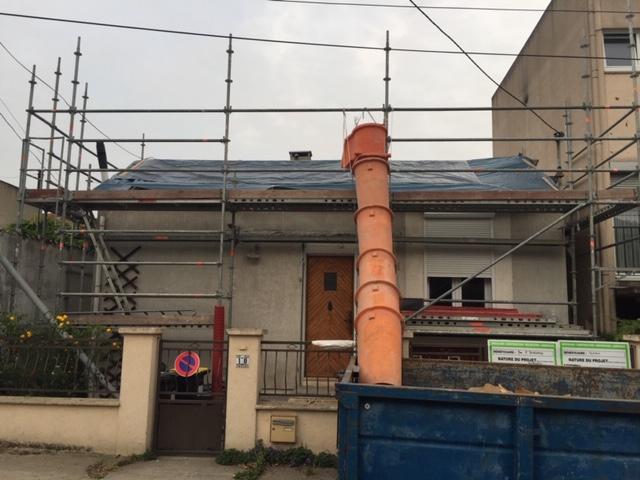 entreprise ravalement, maçonnerie, gros oeuvre maison avant/après extension 94