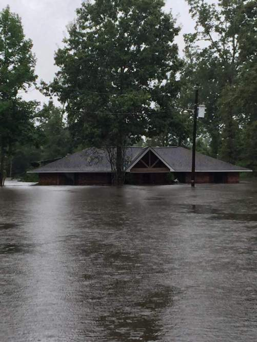 Hughes' home during the flooding.