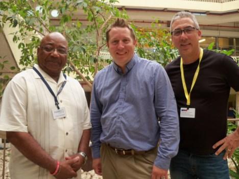 Elmo Winters, Pastor Jonathan Moore (from Israel), Pastor Kelly P. Galati.