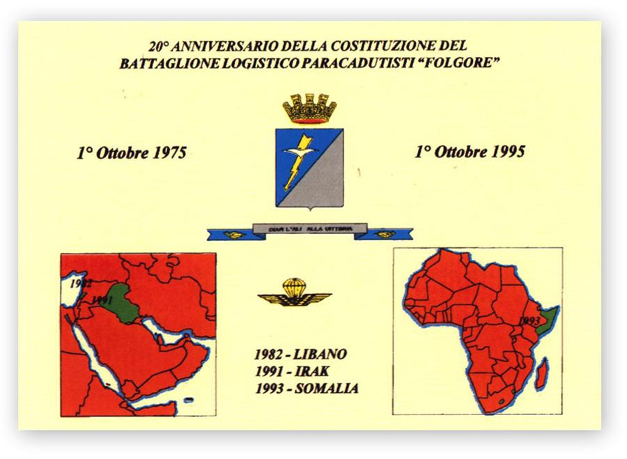 20°Anniversario della costituzione del Battaglione