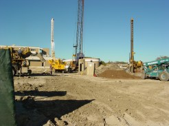 Crane, 900, 700, & 600 Drilling at St. Joseph Bed Tower