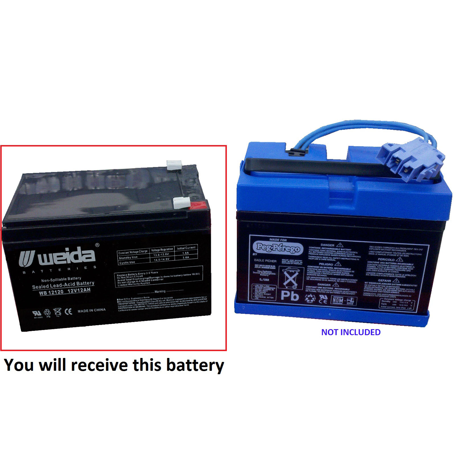 Peg Perego 12v 12ah Battery