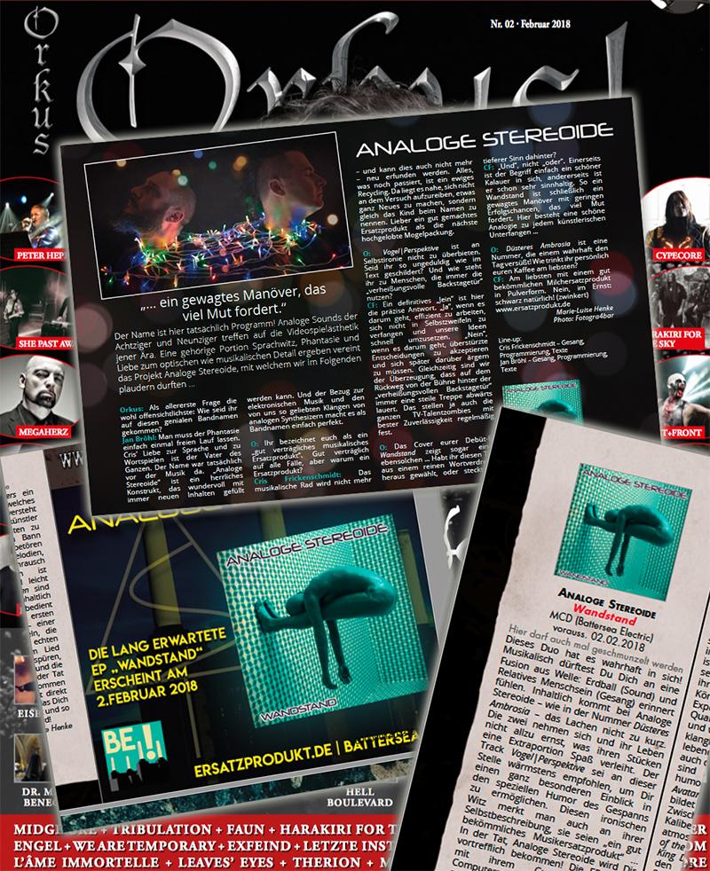 Analoge Stereoide im Orkus! Magazin 2/2018