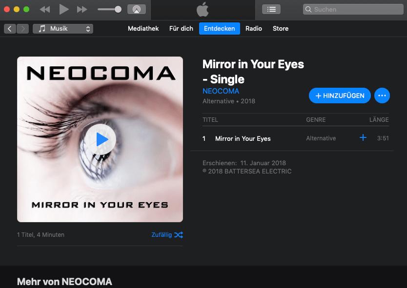 Unser Tipp für's Wochenende: Mirror in Your Eyes