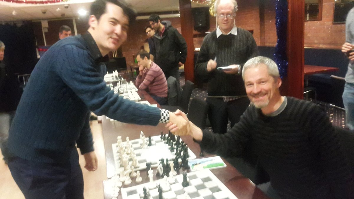 Cheque mate! GM David Howell puts on masterful display – but can't stop our treasurer cashing in