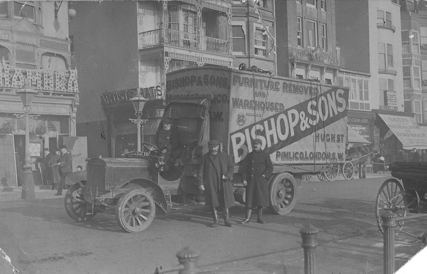 A Bishop's Move van pictured in 1910