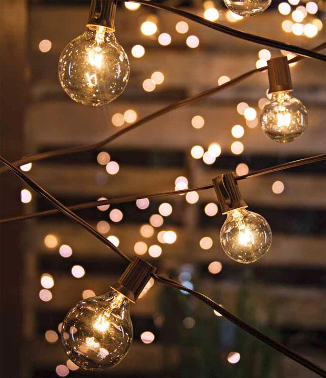 set of 20 bulbs cafe style patio string lights 20 feet