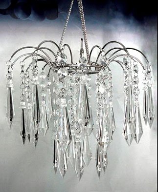 Crystal Acrylic Large Clear Gem Hanging Chandelier