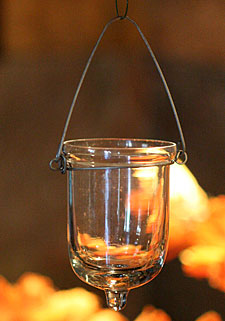 Hanging Glass Tealight Holder Set Of 6 3 Inches