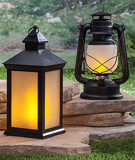 outdoor patio candles solar lanterns