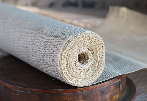 Ivory Burlap Table Runner Roll 20 Inch X 10 Yards High