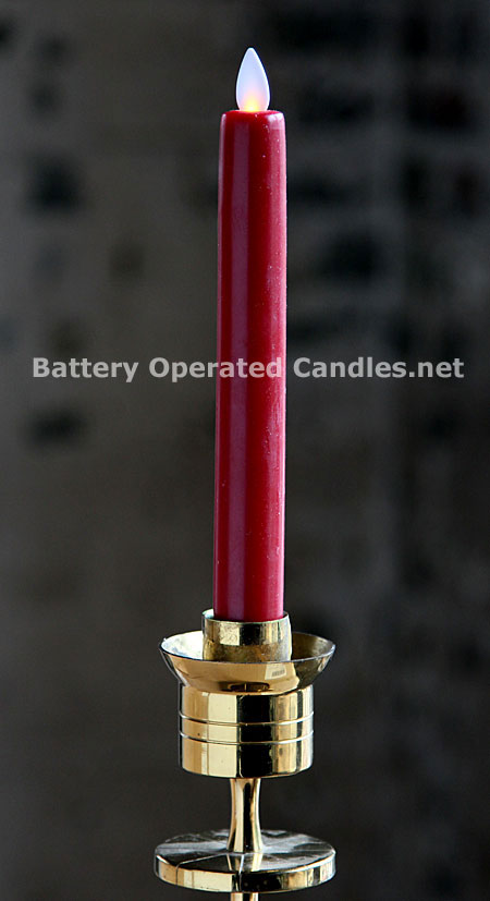Candle Timer Battery Flickering Operated