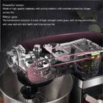 Mélangeur de stand, mélangeur de cuisine électrique à 9 vitesses d'inclinaison avec batteur, crochet de la pâte et fouet à fil, 1500W haute puissance de 7 litres de grande capacité de surchauffe de su