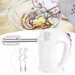 Caiqinlen Mélangeur à Main électrique, Fabricant de crème fouettée, Batteur à œufs Multifonctionnel, mélangeur à Main, pour fouetter, mélanger, Cuire, Cuire