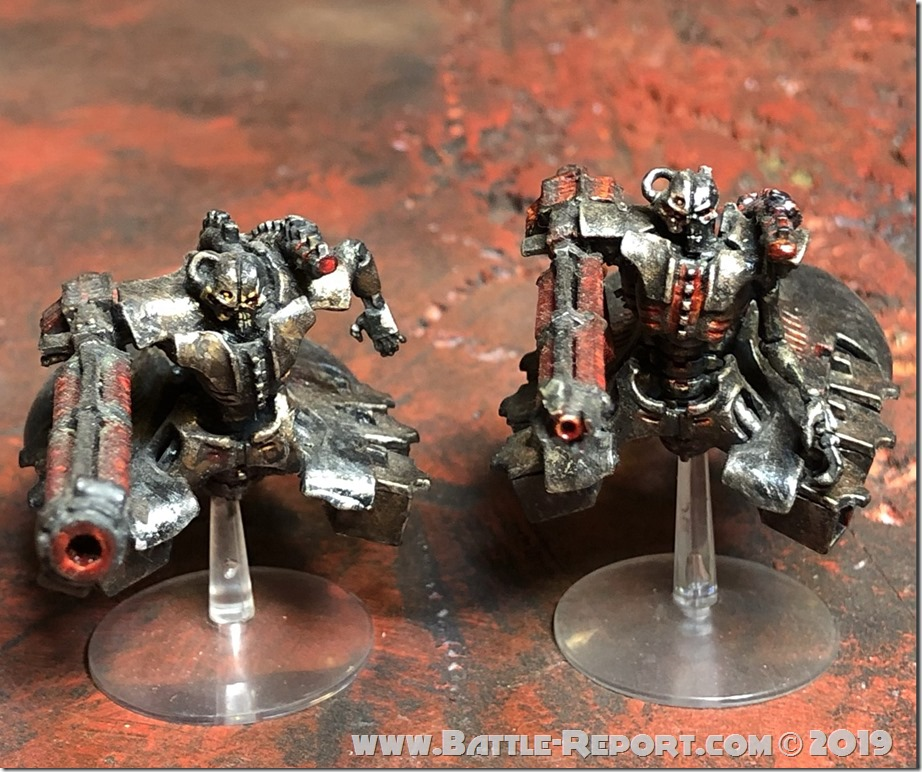 Necron Heavy Destroyers by Nyghoma
