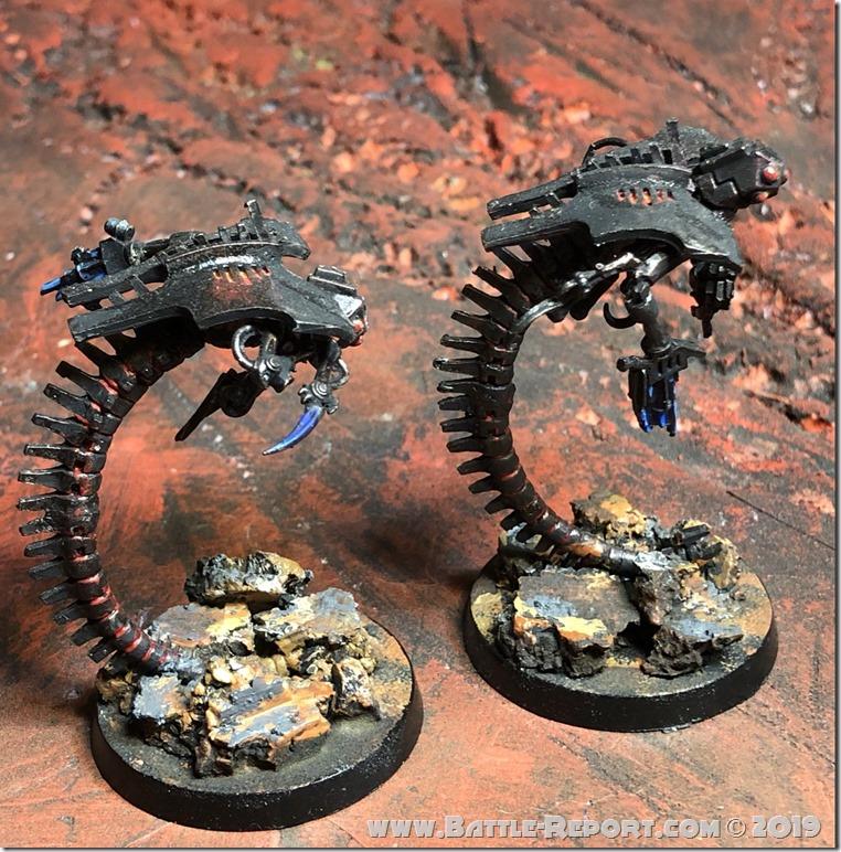 Necron Canoptek Wraiths by Nyghoma