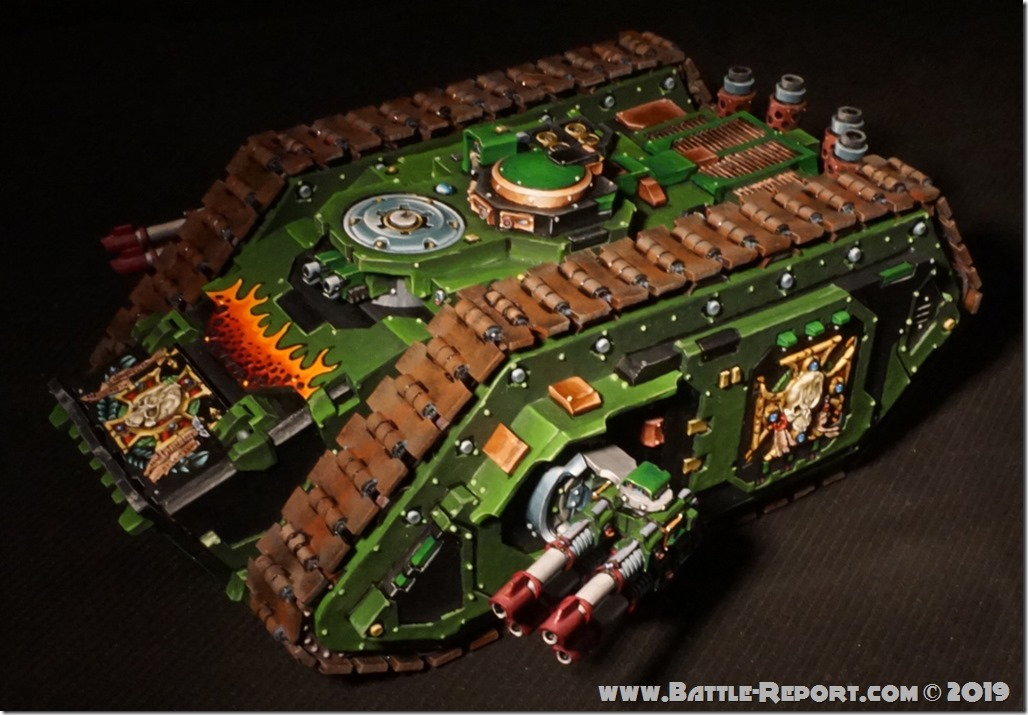 Salamanders Hellforged Spartan Assault Tank by Tomas