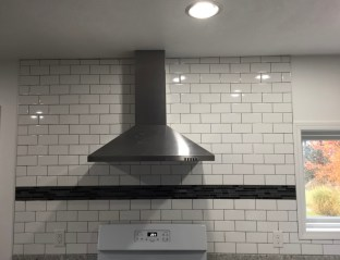 kitchen remodel with backsplash