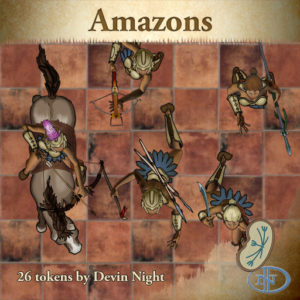 Devin Night's Token Pack #22: Amazons