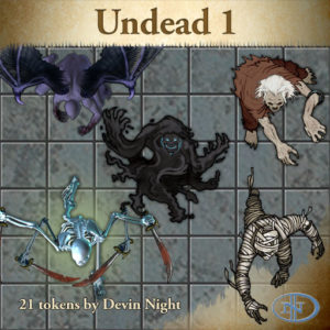 Devin Night's Token Pack #26: Undead 1