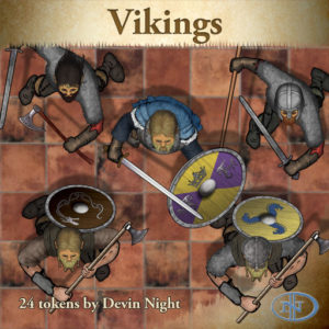 Devin Night's Token Pack #33: Vikings