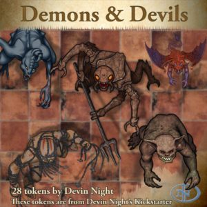 Devin Night's Token Pack #35: Demons & Devils