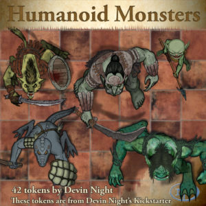 Devin Night's Token Pack #36: Humanoid Monsters